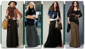 Длинная юбка: с чем носить?